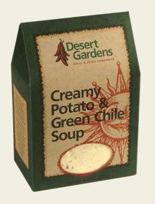 Creamy Potato & Green Chile Soup