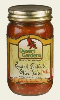 Roasted Garlic & Olive Salsa - 16 oz